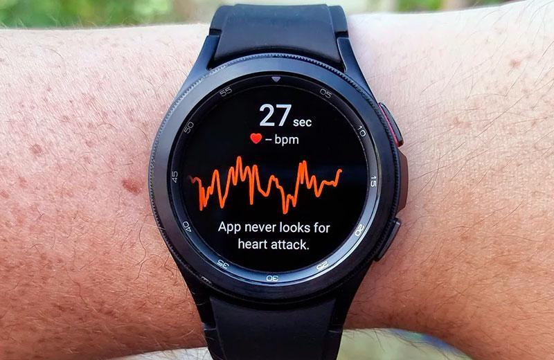 Samsung Galaxy Watch 4измерение пульса