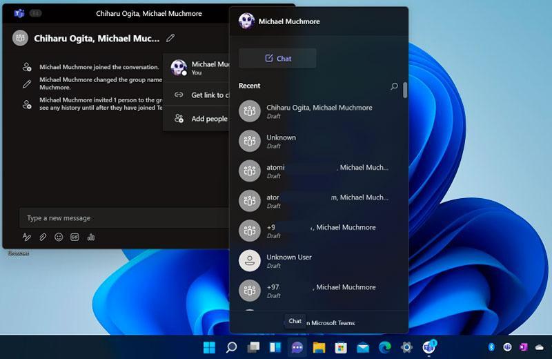 Windows 11 чаты