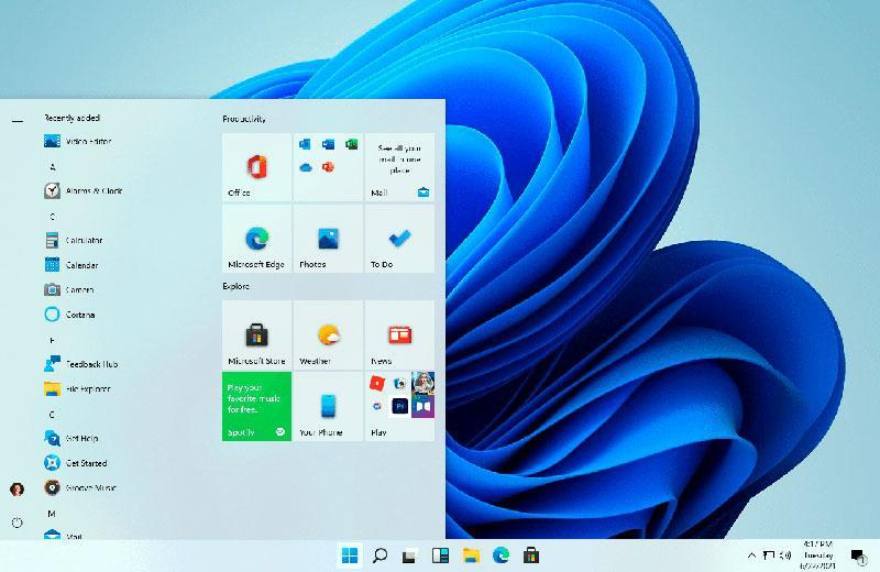 """Меню """"Пуск"""" Windows 11"""