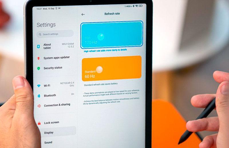 Xiaomi Pad 5 характеристики экрана