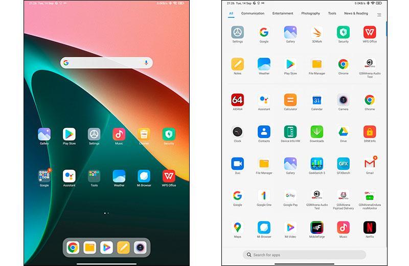 Программное обеспечение Xiaomi Pad 5