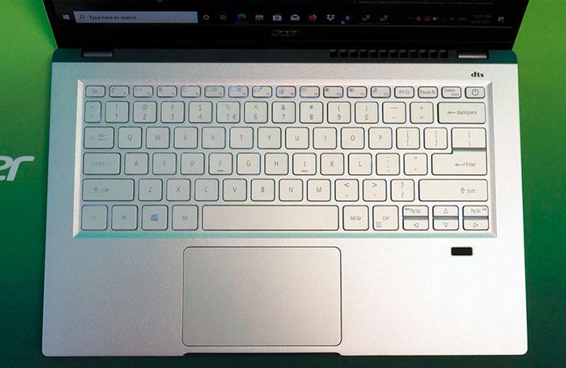 Acer Swift X клавиатура ноутбука