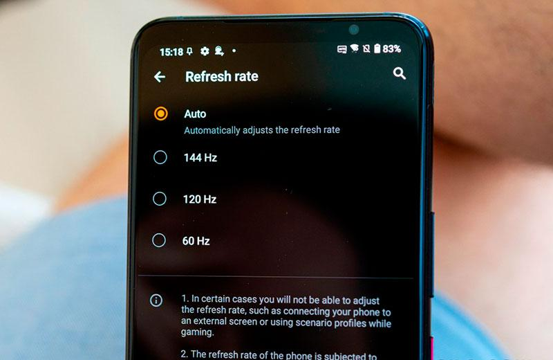 Частота обновления экрана Asus ROGPhone5s Pro