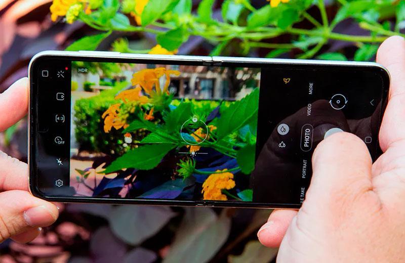 Съёмка на Samsung Galaxy Z Flip3 5G